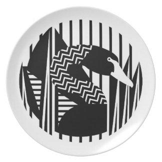 Black Swan Melamine Plate