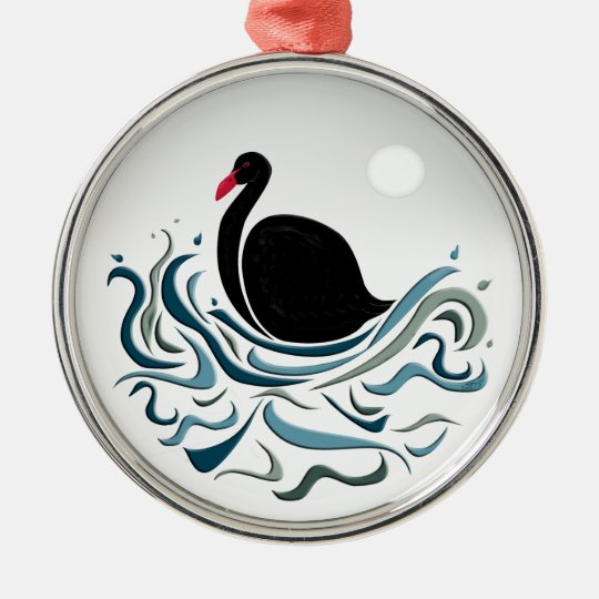 Black Swan Metal Ornament