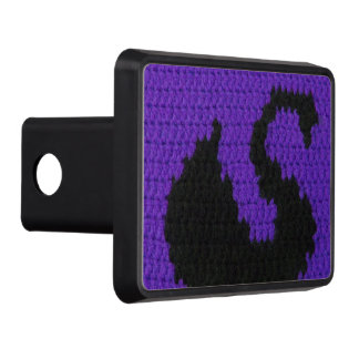 Black Swan Silhouette with Purple Crochet Trailer Hitch Covers