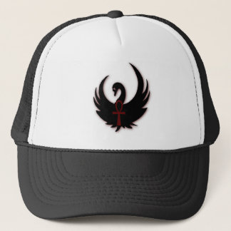 Black Swan with Ankh Trucker Hat