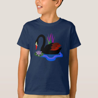 Black Swan with lily T-Shirt