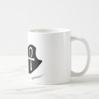 Black Swan with White Ankh Coffee Mug