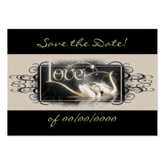 Black Swans Save the Date Card Large Business Card