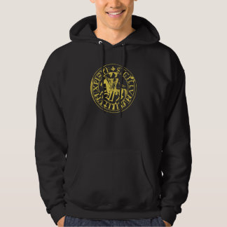 Black Sweat seal of the temple Hoodie