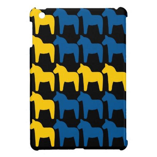 Black Sweden Dala Flag Case For The iPad Mini