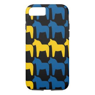 Black Sweden Dala Flag iPhone 8/7 Case