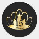 Black Sweet 15 Tiara Sticker-Customize