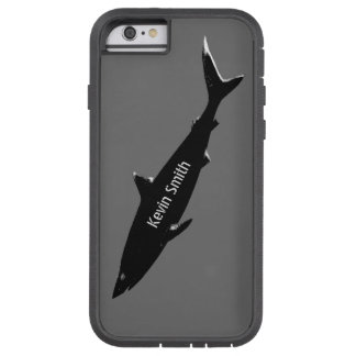 black swimming shark personalized tough xtreme iPhone 6 case