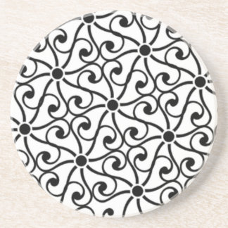 Black Swirl Coaster