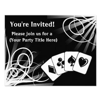 Black Swirl Custom Invitations