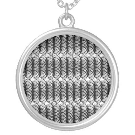 Black Swirl Pattern Necklace