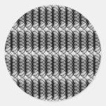 Black Swirl Pattern Sticker