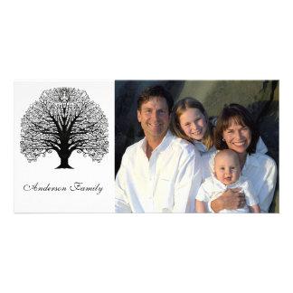 Black Swirl Tree Card