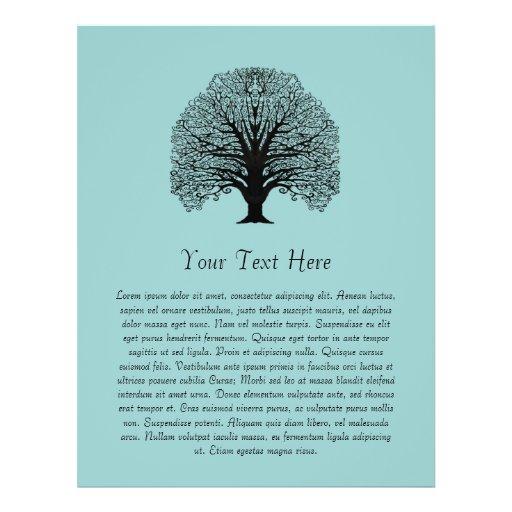 Black Swirl Tree Full Color Flyer