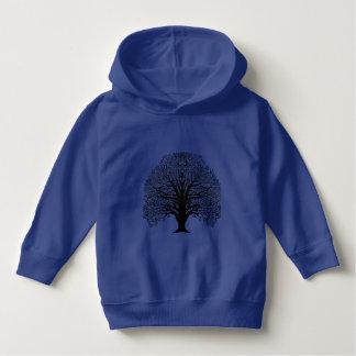 Black Swirl Tree Hoodie