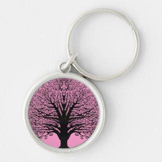 Black Swirl Tree Key Chains