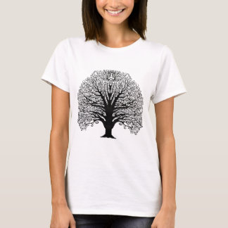 Black Swirl Tree T-Shirt