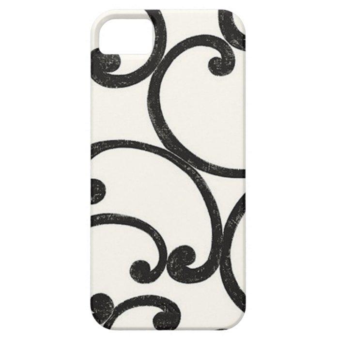 Black Swirling iPhone 5 Case