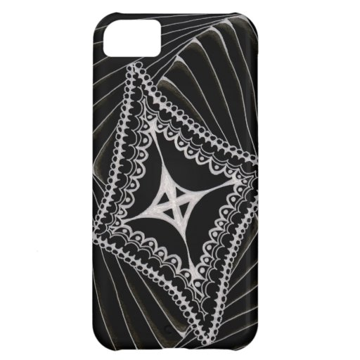 Black Swirling Kite Doodle iPhone 5C Cases