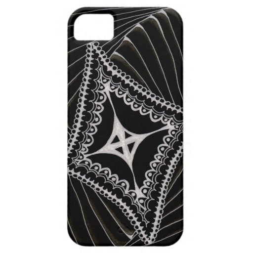 Black Swirling Kite Doodle iPhone 5 Cases