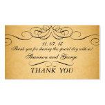 Black Swirls Damask Vintage Wedding Favor Tag Double-Sided Standard Business Cards (Pack Of 100)