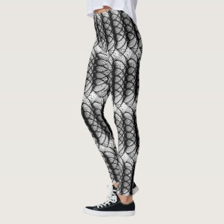 Black Swirls Leggings