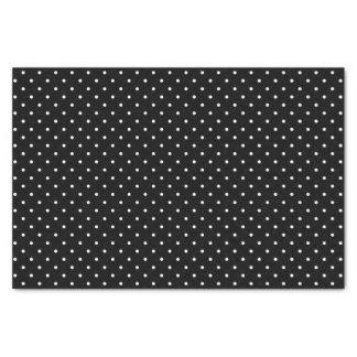 "Black Swiss Dots | Tissue Paper 10"" X 15"" Tissue Paper"