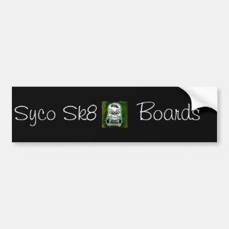 Black Syco Sk8 bumper sticker Car Bumper Sticker