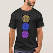 Black t-shirt. 3 matching mandalas T-Shirt
