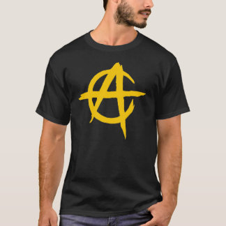 Black t-shirt - Logo Anarchist - Capitalist