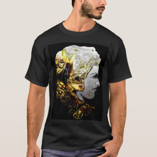 Black T shirt with Alexander the great