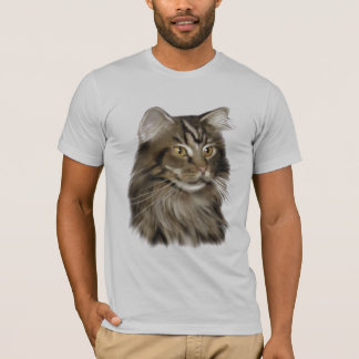 Black Tabby Maine Coon Cat T-Shirt