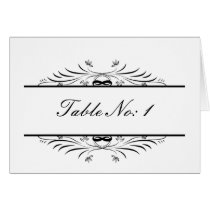 black   table seating card