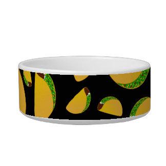 Black tacos cat food bowls