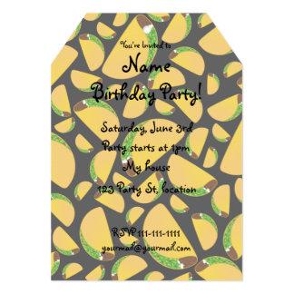 Black tacos personalized invite