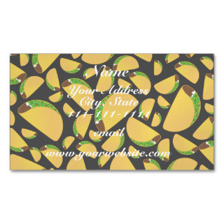 Black tacos magnetic business cards (Pack of 25)