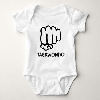 black taekwondo icon baby bodysuit