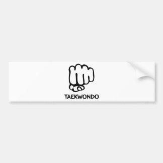 black taekwondo icon bumper sticker