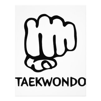 black taekwondo icon flyer