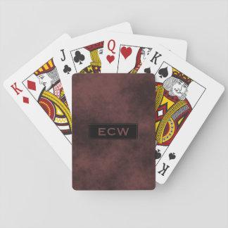* Black Tag Monogram on Smokey Light Brown Sharp Playing Cards