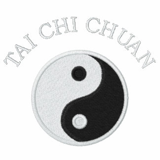 Black Tai Chi - Embroidered Embroidered Polo Shirt