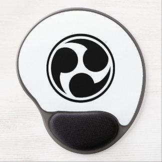 Black Taiko Mitsudomoe Gel Mouse Pad