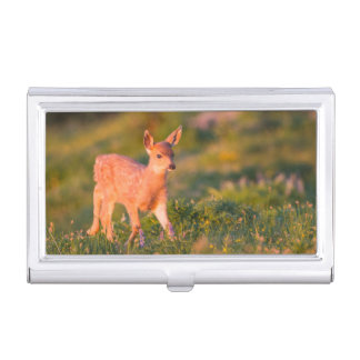 Black-tailed Deer fawn Business Card Holder