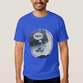 Black-tailed Gull Bird Umineko Sea Cat Says Meh Shirt