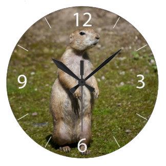Black-tailed Prairie Dog Large Clock