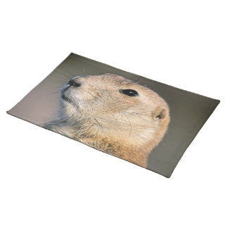 Black Tailed Prairie Dog Placemat Cloth Placemat