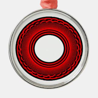 Black talking ring metal ornament