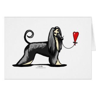 Black & Tan Afghan Hound Card