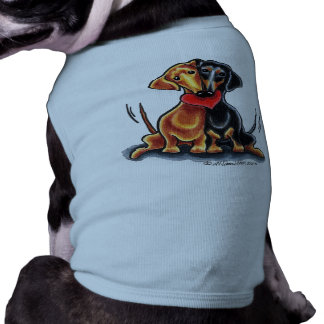 Black & Tan and Red Smooth Dachshund T-Shirt