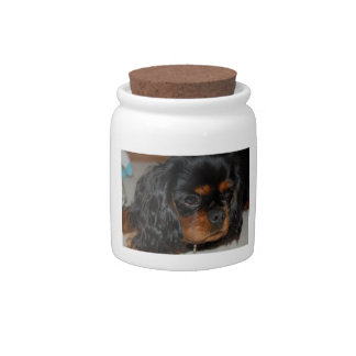 Black & Tan Cavalier King Charles Spaniel Candy Ja Candy Dishes